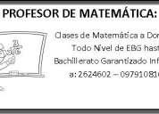 profesor de matematica a domicilio