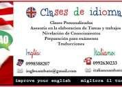 cursos de italiano e ingles