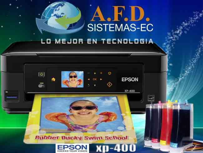 Impresora Epson XP400 Con Sistema De Tinta Continua