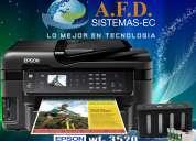 Impresora epson wf 3520 con sistema de tinta continua