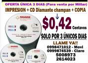 Empresa de impresiones y grabaciones de cd de calidad