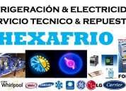 Servicio tÉcnico de refrigeraciÓn y electricidad hexafrio