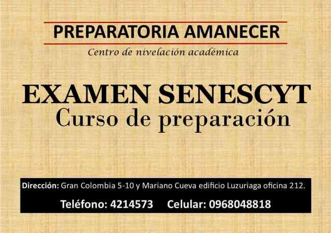 PREPARACIÓN EXAMEN SENESCYT