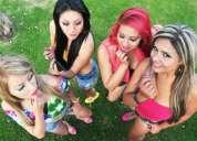 Boca rosa grupo femenino
