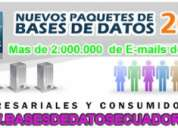 bases de datos de medicos empresas empresarios del ecuador ,programas de envios masivos