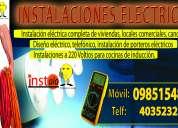 Servicio tecnico de instalaciones electricas, electronicas e  informaticas