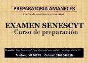 Curso preuniversitario para el examen de la senescyt