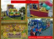 Fiestas / eventos / animaciones infantiles / tren infantil / tobogan salta salta / arreglos con glob