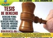 Asesoría para tesis de derecho jurídico