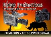 Filmación de eventos y sociales rhino productions