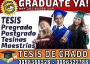 Graduate ya! asesoría personalizada en tesis de grado, tesinas y proyectos de pregrado y postgrado