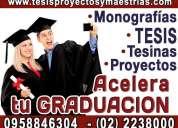 Acelera tu graduacion asesorías metodológicas en elaboración de tesis, tesinas, proyectos, maestr