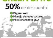 Páginas web con el 50% de descuento ion agencia de publicidad