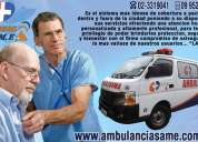 Atencion a domicilio servicio de ambulancias same. cobertura de eventos, traslados, emergencias