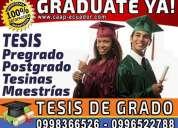 Graduate ya. elaboracion y asesoria integral en tesis de grado, tesinas, proyectos y maestrías