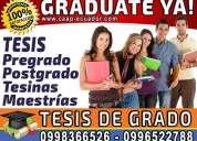 Asesoria tesis, tesinas, diplomado y proyectos de grado. graduate ya!.