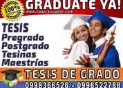 Graduate ya. asesoría de tesis y proyectos de pregrado y postgrado. diplomados. maestrias
