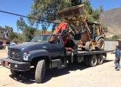 Alquiler de camion grua con plataforma autocargable y montacargas