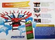 Pulpo estampador 1 a 10 brazos maquinaria insumos serigrafia