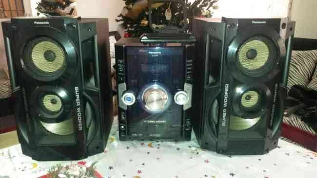 Mini Componente Panasonic Super Woofer Internal Memory Sa