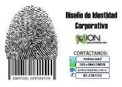 Diseño de identidad corporativa:tarjetas de presentación, hojas membretadas, etc.