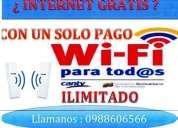 No pagues mas por internet ahora gratis internet wifi con un solo pago $ 80
