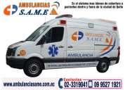 Coberturas de eventos sociales. eventos deportivos. traslados hospitalarios. ambulancias same