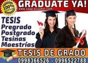 Graduate ya. asesoria y ejecución total o parcial tesis de grado y postgrado. maestrias. diplomados