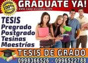 Graduate ya. asesoria y elaboracion de tesis, tesina y proyectos de pregrado y postgrado diplomados