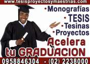 Asesorias academicas y elaboracion de tesis de grado, tesinas, maestrias, normas apa. 095884 6154