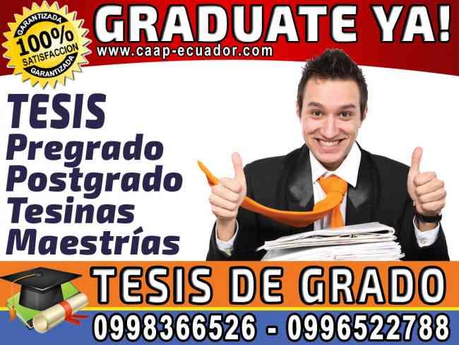 Facil y Rapido Graduate YA!. 0958846154. Elaboracion de tesis y proyectos de pregrado y postgrado