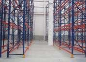 Sistema de racks o perchas para cargas paletizadas de categoría liviana, media y pesada