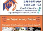 A domicilio limpieza desinfección y esterilización de colchones alfombras juegos de sala