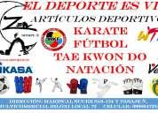 Artículos deportivos para fútbol kárate tae kwon y natación