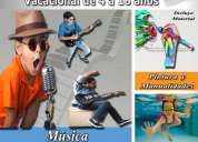 cursos vacacionales (guitarra, canto, piano, pintura,manualidades, natacion)