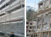 Alquilo andamios individuales, andamios para edificios, encofrado,chapas para pilares, puntales