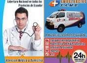Servicio de ambulancias en ecuador para urgencias medicas y traslados hospitalarios 0995271921