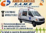 Ambulancias para emergencias industriales. soporte medico prehospitalario. renta de ambulancias