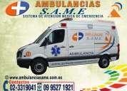 02-3319041 terapia intensiva en ambulancias. traslados hospitalarios programados ambulancias ecuador