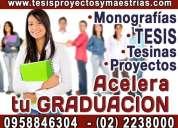 Asesoramiento de tesis de grado, maestría y doctorado