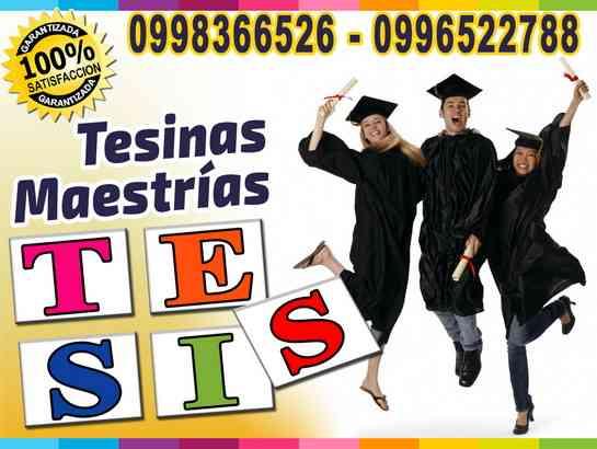 ¿Problemas con la tesis de Grado?. Lo hacemos por ti. Tesinas, Proyectos, Monografias 0998366526
