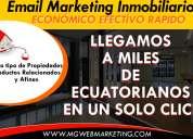 Email marketing inmobiliario bienes raices  propiedades