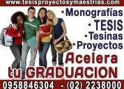 Acelera tu graduacion hacemos tu tesis graduate ya!. 0958846154 asesoria integral tesis, tesinas