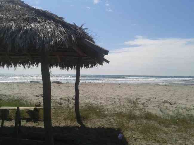 Terreno de 4.000 m2 frente al mar en Briceño, Canoa