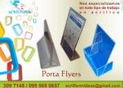 Porta flyers en acrÍlico en quito ecuador