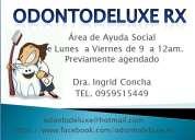 Protesis dentales a 65$ odontologia social dra ingrid concha