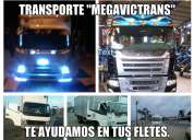 """Transporte """"megavictrans"""" te ayudamos en tus fletes y mudanzas"""
