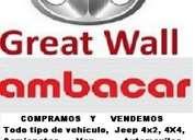 Adquiero y vendo carros y camiones de ambacar great wall jmc, h3 h5 voleex hover, usados