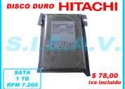 disco duro  interno 1tb hitachi - 3.5  sata, rpm 7.200 nuevo