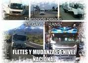 """Transporte """"megavictrans"""" ofrece servicio para fletes y mudanzas"""